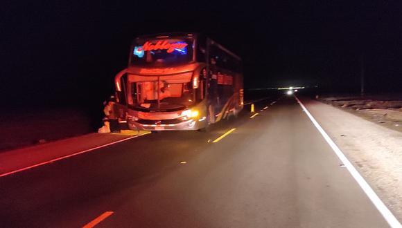 Hombre muere tras ser arrollado por bus en la Panamericana Sur