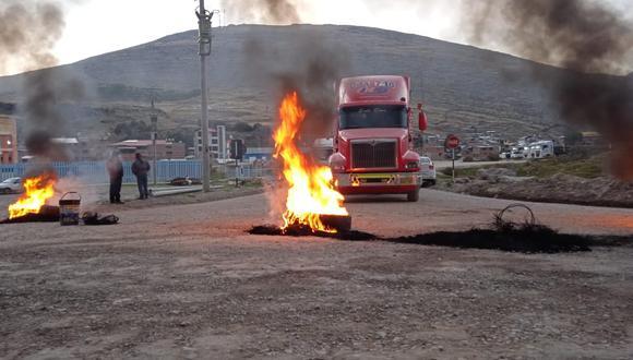 Apurímac: Bloquean corredor minero y exigen la presencia del presidente Castillo