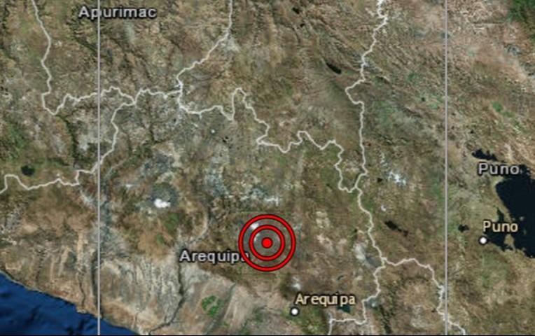 Sismo de 3.6 remeció Arequipa esta mañana