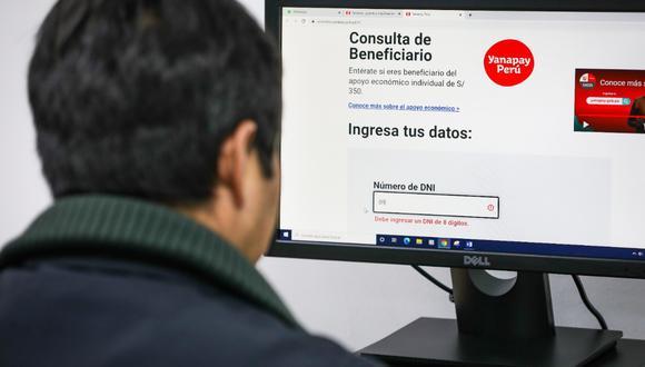 Bono Yanapay: Conoce como activar tu cuenta DNI para cobrar el subsidio