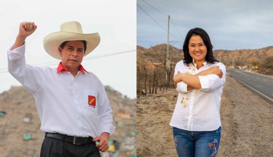 Pedro Castillo (18.92%) y Keiko Fujimori (14.26%) lideran resultados al 90.053%