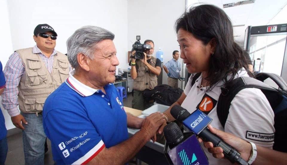 César Acuña y Keiko Fujimori se unen en 'Cruzada por el Perú' en favor del trabajo