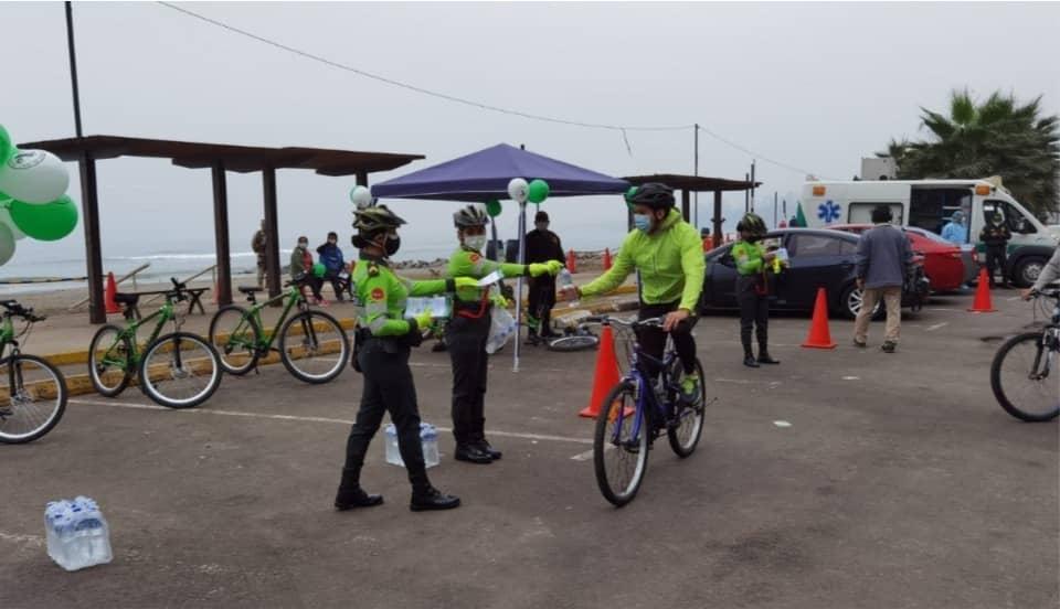 Policía inicia campaña de sensibilización para uso adecuado de la bicicleta en la vía pública