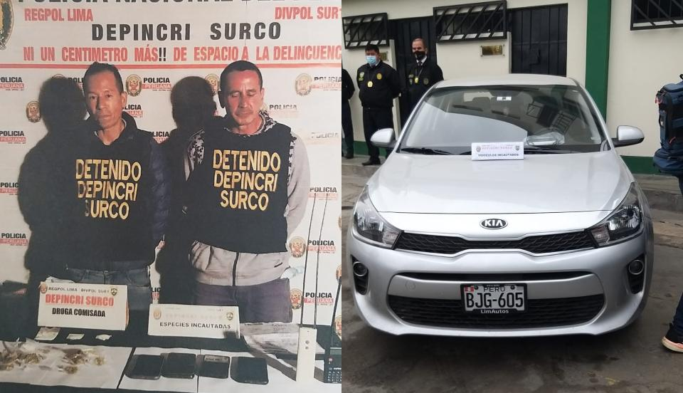 [VIDEO] Surco: Extranjeros son detenidos tras robar un vehículo