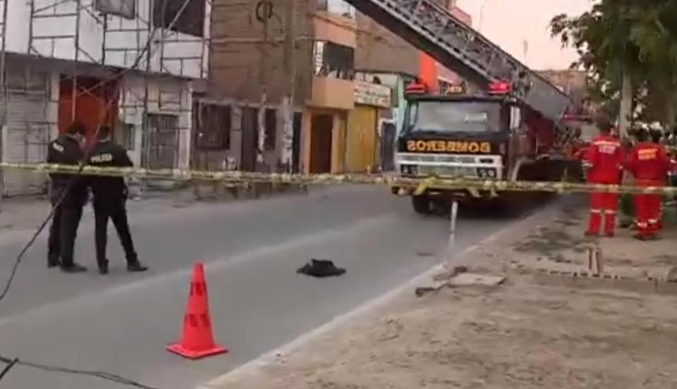 Padre e hijo murieron tras descarga eléctrica en edificio de Comas