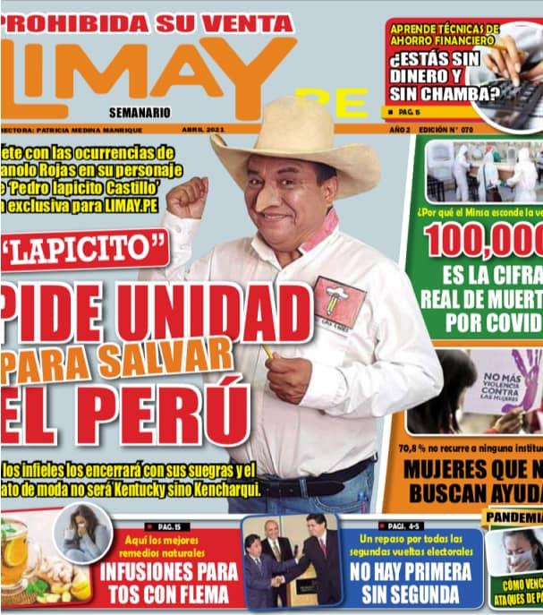 """""""Lapicito"""" Pide unidad para salvar el Perú"""
