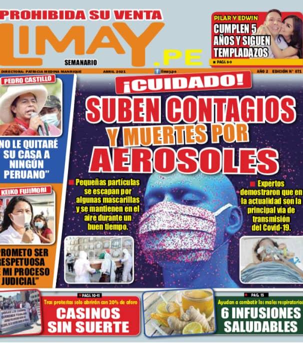 Edición Impresa 71 - Suben contagios y muertes por Aerosoles
