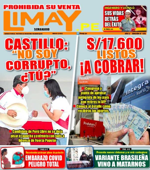 Edición Impresa 72 - Castillo: No soy corrupto, ¿tú?