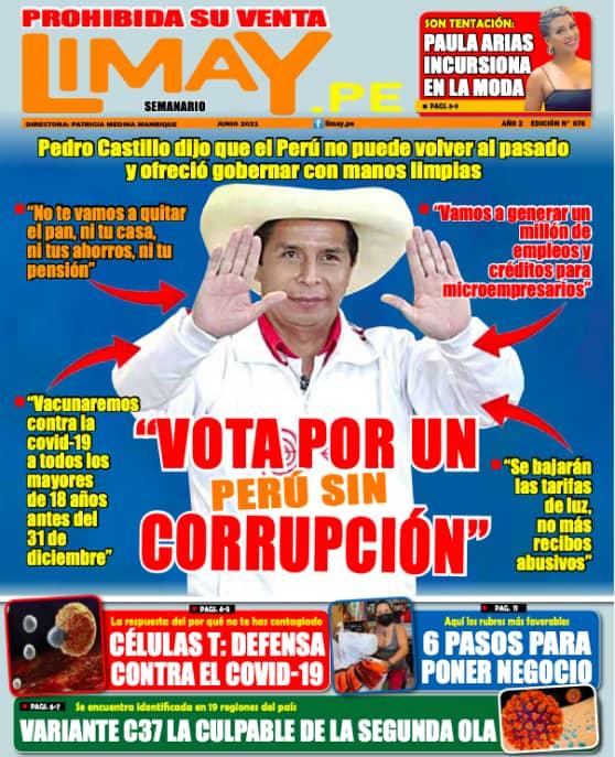 Edición Impresa: Vota por un perú sin corrupción