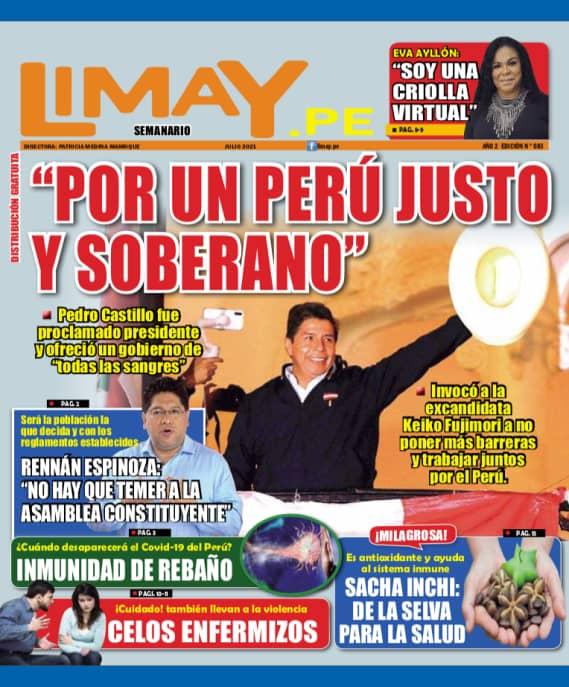 Edición Impresa 83: Por un Perú Justo y soberano.