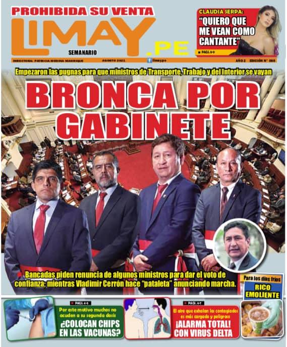 Edición Impresa 88 - Bronca por Gabinete: Empezaron las pugnas para que ministro de Transporte
