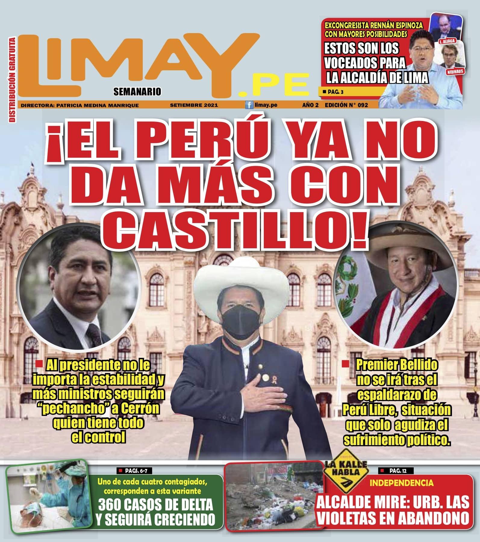 Edición Impresa 92: ¡El Perú ya no da más con Castillo!