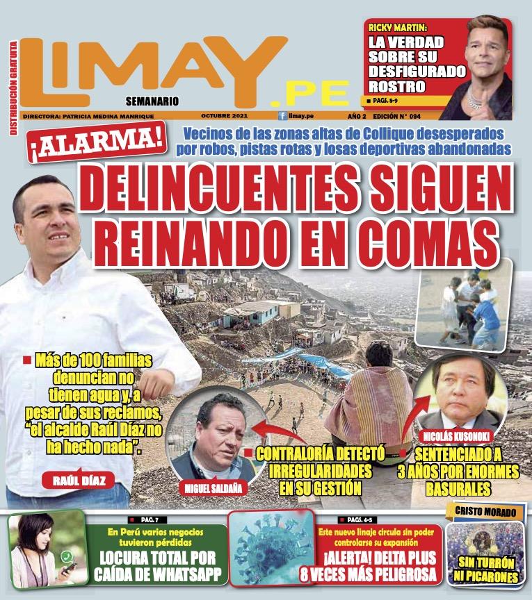 Edición Impresa 94: Delincuentes siguen reinando en Comas