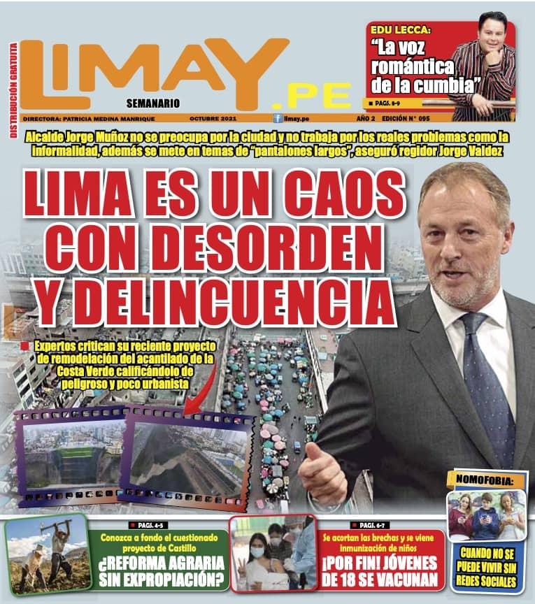 Edición Impresa 95: Lima es un caos con desorden y delincuencia