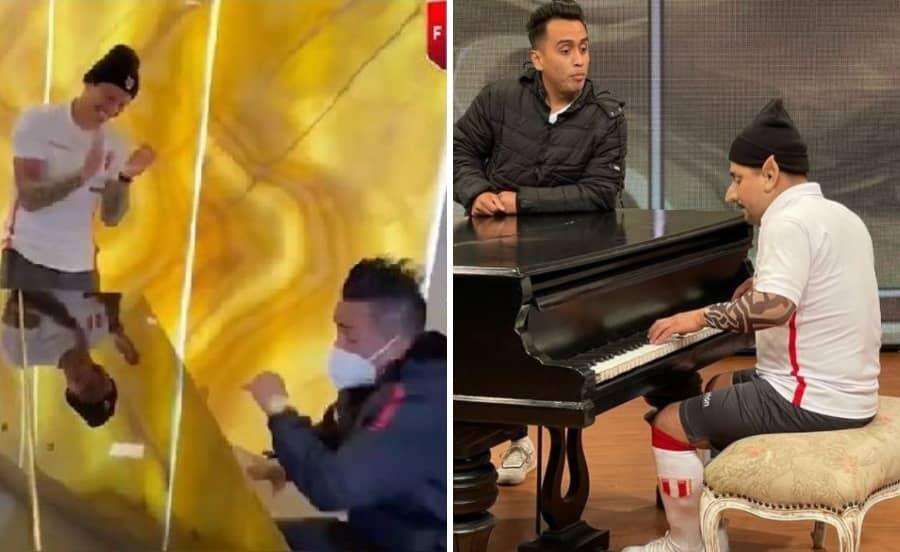 (FOTO) Jorge Benavides imitará divertida escena del piano entre Gianluca Lapadula y Christian Cueva