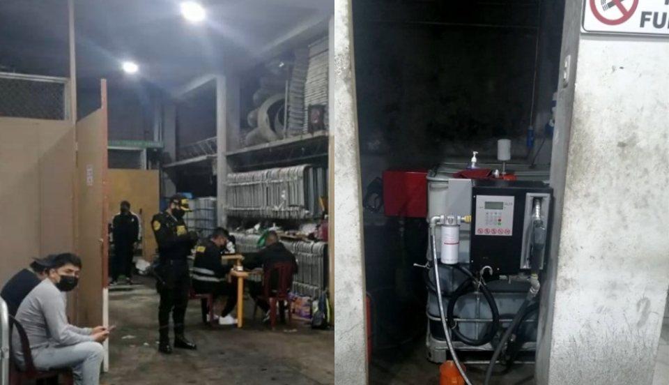 Independencia: Sujetos fueron capturados por vender combustible en grifo clandestino