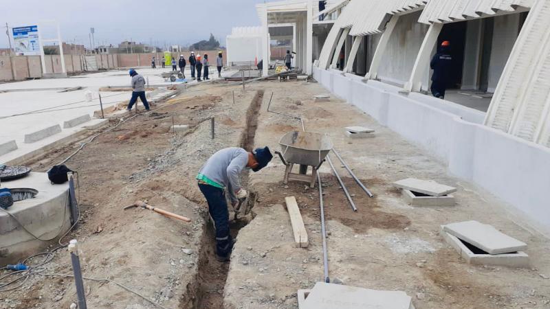 Continúa construcción del primer hospital modular del Perú en Ica [FOTOS]