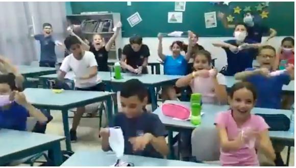 Israel: Se vuelve viral emotiva reacción de niños al saber que no usarán más mascarillas