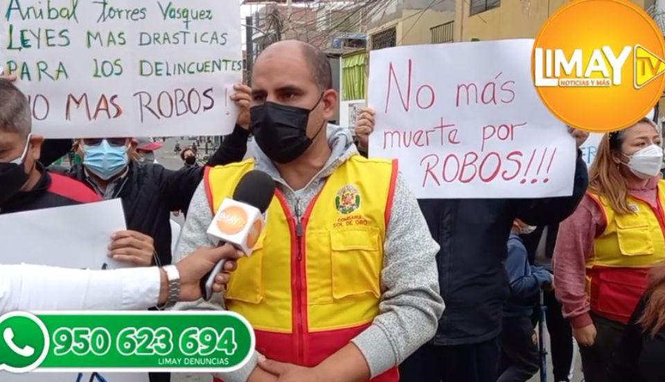 Los Olivos: Vecinos exigen mayor presencia policial ante el aumento de robos