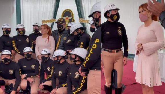 [FOTOS] Magaly Medina fue madrina de promoción de la Policía Nacional del Perú