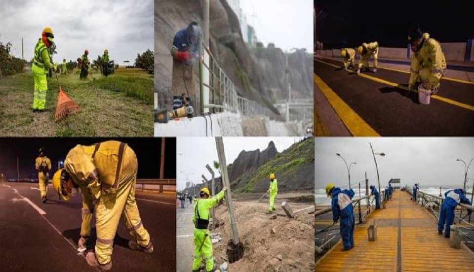 Municipalidad de Lima finalizó mantenimiento de cerca de 6 km de pistas en la Costa Verde