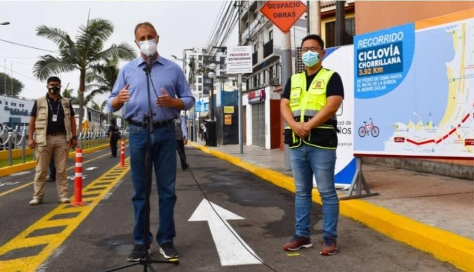 Municipalidad de Lima inaugura ciclovía en Chorrillos que se conecta con la entrada al Morro Solar
