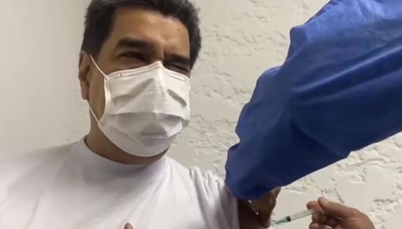 Venezuela: Nicolás Maduro recibe la primera dosis de la vacuna rusa contra el COVID-19