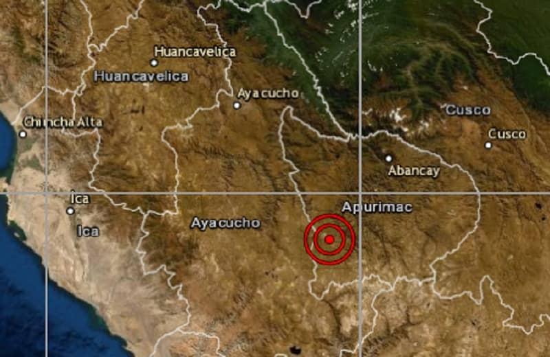 Apurímac: IGP registra sismo de 3.4 esta noche