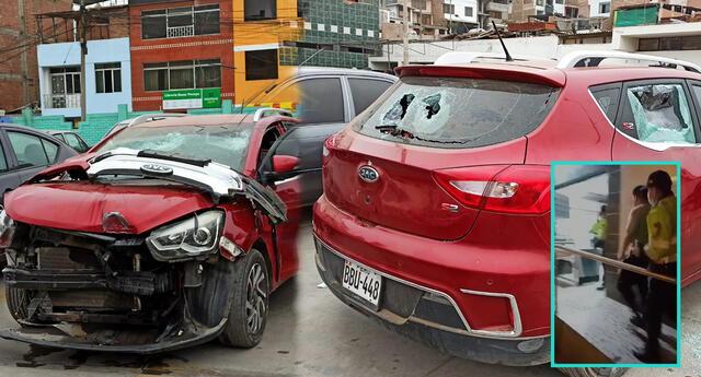 [VIDEO] San Juan de Miraflores: Policía en presunto estado de ebriedad atropelló a repartidor de delivery