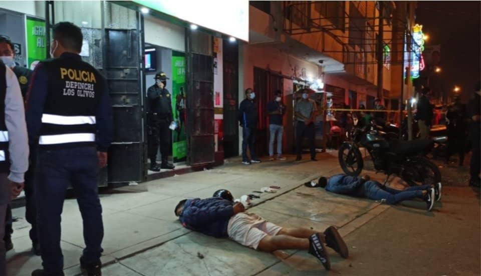 Policía detiene a delincuentes que asaltaron casa de apuestas en San Martín de Porres